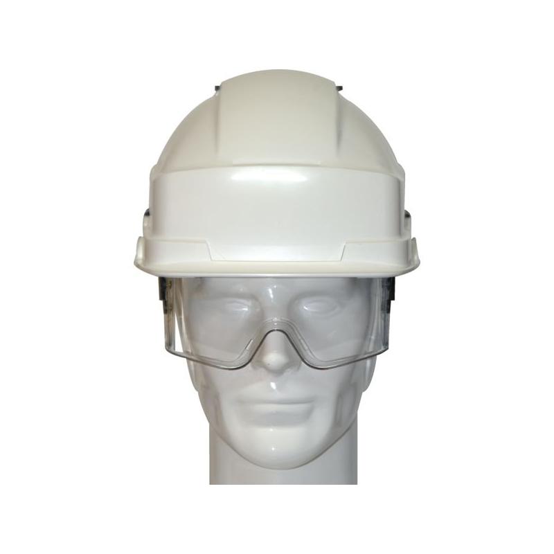Casque de protection Iris2/Casque avec des lunettes masque blanc